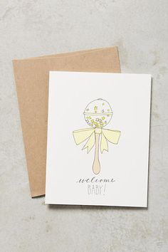 Welcome Baby Card - anthropologie.com