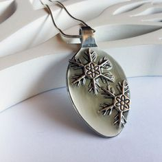 Snowflake spoon pendant by JacDesigns10 on Etsy