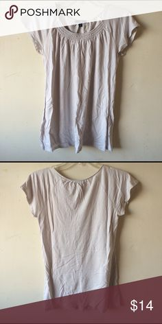 Gap Top Light blueish/gray exclusive of decoration, rayon/lyocell material.     M GAP Tops Tees - Short Sleeve