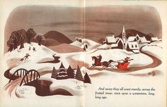 """""""Once Upon A Wintertime"""", Illustrations by the Walt Disney Studio, Adapted by Tom Oreb. (c) 1948, 1950"""