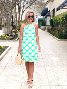 Freshly picked for spring! Stay cool as the temps heat up with this sun protective, cooling dress! | All For Color #spring #ootd #bringonthecompliments