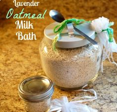 Lavender and  Oatmeal Milk bath by AWomansTherapy on Etsy, $14.99 #homemadesoaps #natural #homemade #allnatural