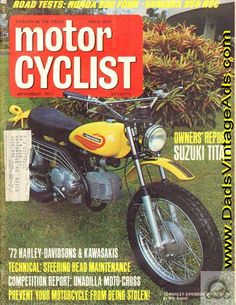 1971 Motorcyclist Cover: 1972 Harley-Davidson Sprint SX350