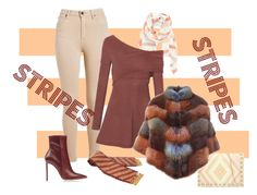 """Stripes"" by seadbeady ❤ liked on Polyvore featuring Hinge, Valentino, BLANCHA and stripes"