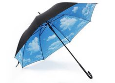 Blue skies no matter what the weather. Love this umbrella!