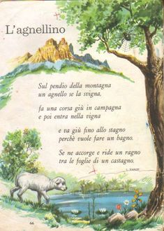 Italian Life, Vintage School, Poems, Children, Painting, Texts, Learning Italian, Book, Italy