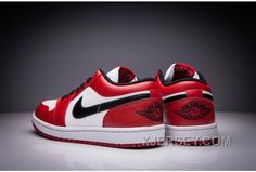 """http://www.xjersey.com/air-jordan-1-low-retro-chicago-white-varsity-redblack-for-sale.html AIR JORDAN 1 LOW RETRO """"CHICAGO"""" WHITE/VARSITY RED-BLACK FOR SALE Only 83.26€ , Free Shipping!"""
