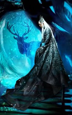 Lee Pace as Thranduil in The Hobbit Trilogies (2012-2014) fan art