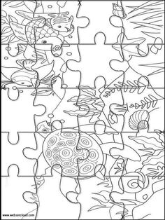 Printable Jigsaw Puzzles To Cut Out For Kids Nature 72 Coloring Pages