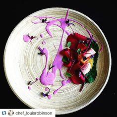 #Repost @chef_louisrobinson  Beets pickled green bananas yellow tomato purple cabbage  #gourmetartistry #gastroart #chefsofinstagram  #theartofplating  #gastropost #foodart #artistic #fourmagazine #truecooks #purple  #gourmet #finedining  #fresh #igers #picoftheday #food #foodpics #foodie #foodstagram #cheflife #foodporn #yummy #delicious #plating #gourmet #instagood #instafood #art #chef #follow by gastronomynews