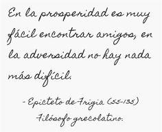Epicteto de Frigia (55-135) Filósofo grecolatino.  #citas #frases