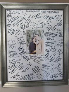 Instead of a guest book? http://media-cache6.pinterest.com/upload/159244536794129567_evdzGhEn_f.jpg captntennille mitch s wedding