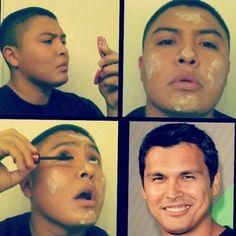 Best makeup transformation yet! #AdamBeach