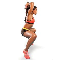 The Ballerina Squat sculpts your upper body while sizzling away fat on your lower body. Win-win. #workout