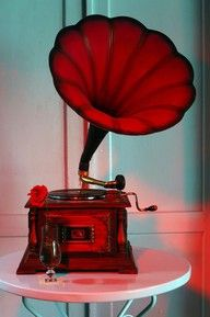 Red gramophone - Music - Photography