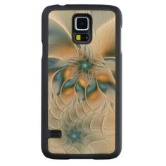 Soaring, Abstract Fantasy Fractal Art With Blue Carved® Maple Galaxy S5 Case