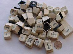 Recycled Vintage Computer Key Board Keys by PLJohnsonGlassArt, $8.00