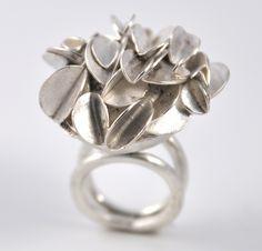 Large Desert Rose Ring: Lori Gottlieb: Silver Ring | Artful Home
