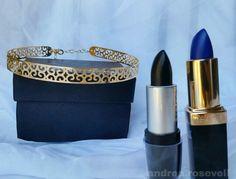 Batom preto Daillus Batom azul Tracta #makeup #lispitick #blue #batom #pic #amazingpicture