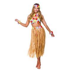 Womans Hawaiian Party Girl Set Halloween Fancy Dress Costume Outfit One Size  sc 1 st  Pinterest & Hula Girl outfit u2026 | Wardrobeu2026