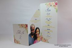 Wedding Table Number and Menu