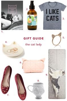 the perfect gifts for your favorite cat lady, ahem.  more gifting inspiration at jojotastic.com