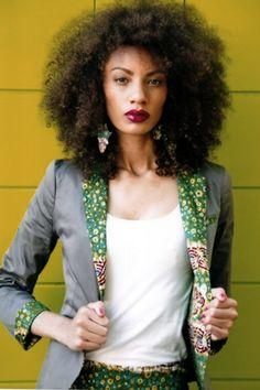 big 'fro ~Latest African Fashion, African Prints, African fashion styles, African clothing, Nigerian style, Ghanaian fashion, African women dresses, African Bags, African shoes, Nigerian fashion, Ankara, Kitenge, Aso okè, Kenté, brocade. ~DKK