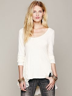 Free People Wonderland Lace Tunic, 88.00