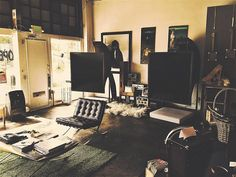 Western Electric Horns in Artist Loft