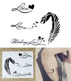 Bleeding Love Tattoo temporaire poignet par TemporaryTattooLover