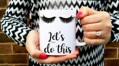 EYELASHES fashion MUG - COFFEE o'clock. Good morning mug. Personalised coffee/tea mug fashionista gift. Mascara Eyelashes extensions make-up Engagement Mugs, Engagement Gifts For Her, Alesso, Custom Jigsaw Puzzles, You Are My Person, Christmas Gift Bags, Tea Mugs, Coffee Mugs, Personalized Photo Gifts