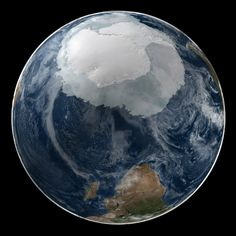 This Image Really Puts the Size of #Antarctica Into Perspective #earth #space #nature #beauty