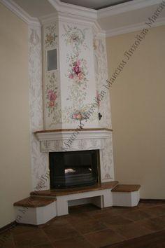"""Результат пошуку зображень за запитом """"роспись на камине"""" Indoor Fireplaces, Ceiling, Rustic, Inspiration, Lego, Sketch, House, Home Decor, Fireplace Set"""