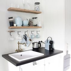 Houten huisje B&B small kitchen