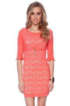 Make it Lace Forever Dress in Orange $58 at www.tobi.com