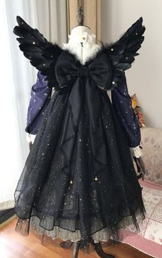Angel and Devil of the Universe Lolita Wings with Back Veil and Bow
