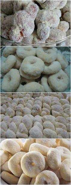 Rosquinhas de Leite Ninho..FICA SUPER FOFINHA!! Em uma tigela, misture a farinha de trigo, o melhorador de farinha, o fermento biológico seco e o sal. #receita#bolo#torta#doce#sobremesa#aniversario#pudim#mousse#pave#Cheesecake#chocolate#confeitaria Cookies, Sugar And Spice, Coco, Quiche, Donuts, Ale, Stuffed Mushrooms, Spices, Food And Drink