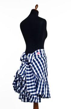 Betty skirt in blue check by Lena Hoschek
