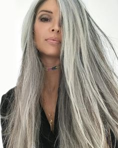Long Grey Hairstyles Pleasing Long Grey Hair  Beautiful Long Gray Hair Style Pictures  Long Grey