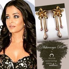 Aishwarya Rai Bacchan stuns in these Orchid earrings by Valliyan. Available ar Minerali. Styled by Aastha Sharma.  #minerali_store #aishwaryaraibacchan #valliyan #orchidearrings #goldearrings #shinygold #bollywoodceleb #missworld #bollywood #bollywoodfashion #style #fashion #celebpost #celebpic #linkingroad #bandra #minerali