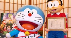 Doraemon has his work cut out for him as he tries to fill his role as Japan's Anime Ambassador. China World, News Around The World, Doraemon, Tokyo Olympics, Childhood Memories, Mickey Mouse, Disney Characters, Fictional Characters, Like4like