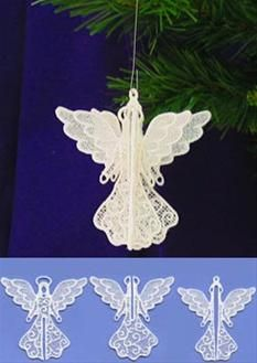 Machine Embroidery Ideas Machine Embroidery Designs at Embroidery Library! Diy Embroidery Machine, Advanced Embroidery, Embroidery Ideas, Freestanding Lace Embroidery, Christmas Embroidery, Handmade Crafts, Christmas Crafts, Crochet Jewellery, Angel Ornaments