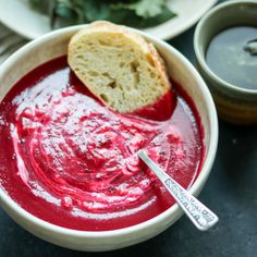 This gorgeous beet soup is so quick and easy – just roast some veggies, simmer with broth, then puree and...