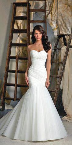 Stunning Wedding Dresses Under $1,000 ❤ See more: http://www.weddingforward.com/cheap-wedding-dresses/ #weddings