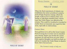 """Pools of energy"" - Today's Atlantis Card – Diana Cooper"