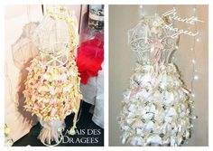 Busteà dragées vintage ou shabby chic ? http://www.drageeparadise.fr/blog/mariage-les-presentoirs-dragees/