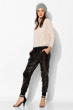 Staring At Stars Sequin Jogger Pant $69.00 - Buy it here: https://www.lookmazing.com/staring-at-stars-sequin-jogger-pant/products/5991337?shrid=46_pin
