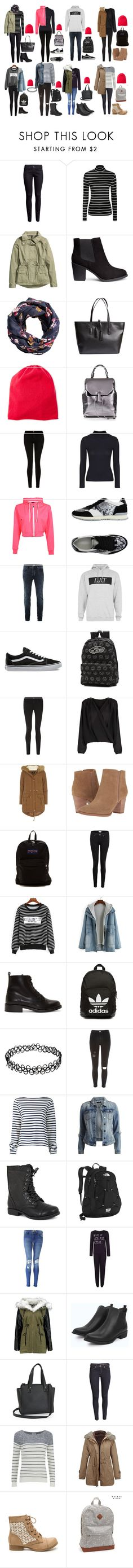 """Women's March"" by strawberryfelton on Polyvore featuring Mode, H&M, George, Fraas, Topshop, Current/Elliott, Boohoo, Giorgio Armani, Topman und Vans"
