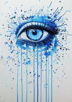 Resultado de imagen para dibujos de ojos con acuarelas