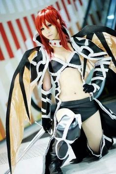 Black Wing Erza cosplay